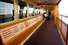 Row of Orange (cybertoad) Tags: nyc newyorkcity vacation orange ny newyork ferry statenislandferry thebigapple cmwd cmwdorange