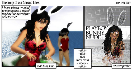 The Irony: Playboy Bunny Nude