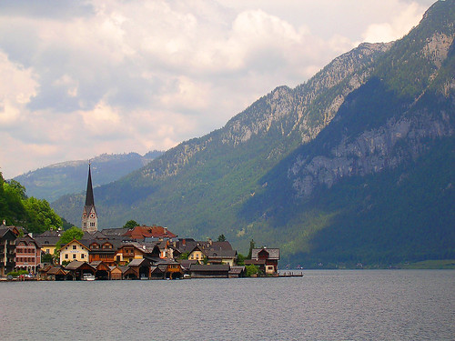 Hallstatt Austria beautiful lake outside Salzburg