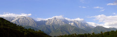Panoramic view of Dhauladhar range (SanyamStudios) Tags: panorama india mountains panoramas hills himalayas dharamshala himachalpradesh mcleod panoramicview triund naturesfinest ptgui gunj mcleodgunj supershot perfectpanoramas anawesomeshot aplusphoto dhauladharrange ilaka dharamashala