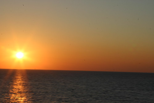 Sunset on Ferry to Greece