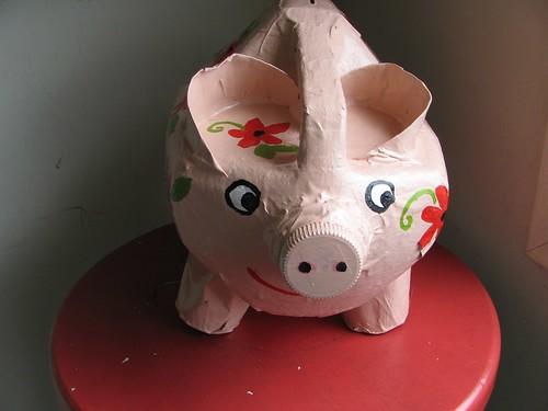 milk carton piggy bank
