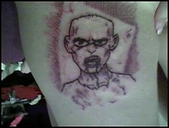 Kat's Zombie tattoo.. that I drew.