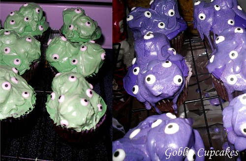 Goblin Cupcakes by artchick2002.