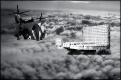 Omega Squadron HQ : Installing the Von Kloitzman Generator (john_bolin2002) Tags: blackandwhite me photoshop airplane funny sweden metallic scifi hq futuristic enemy bmovie meanwhile wtfw photoshoproyalty