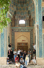 WE / Natanz Jame' Mosque (Hamed Saber) Tags: geotagged persian iran persia saber gathering iranian  hamed farsi    flickrgathering   natanz          upcoming:event=235013 natanzjamemosque      halakehouselehnadari manbarattagmizaram baghiehdoostanhamtagbezaranbadnistmankhastehshodamp