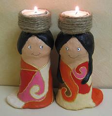 candlestick7 by INBAL - Papier Mache