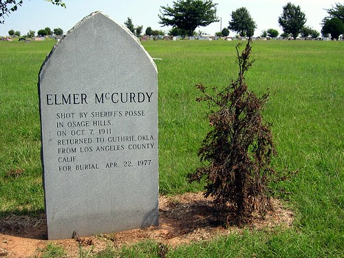 Grave of Elmer McCurdy in Summit View Cemetery in Guthrie, Oklahoma
