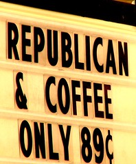 Republican Invisible Coffee - by tomswift46