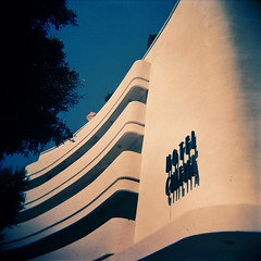 Hotel Cinema (elbud) Tags: film xpro cross kodak processed ept holgacfn 160t