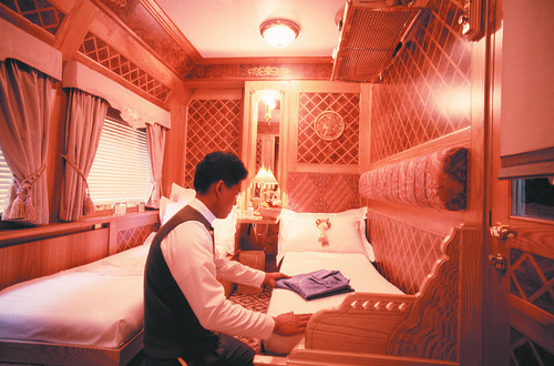 Eastern & Oriental Express - Carriage being prepared for night