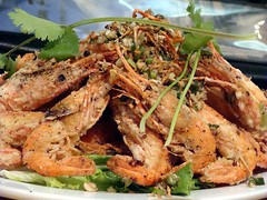 Deep Fried Spot Prawns (knightbefore_99) Tags: vancouver restaurant cambodia chinatown cambodian khmer bc deep shrimp phnompenh fried spotprawn oceanwise