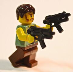 Lego Apoc Warrior w/ SMG (Spartan-134) Tags: lego halo custom smg apoc brickarms brickforge