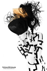 Lost within myself (Von Wong) Tags: lines fashion maze opposites bodypainting crazyhair labyrinth lineart whiteandblack