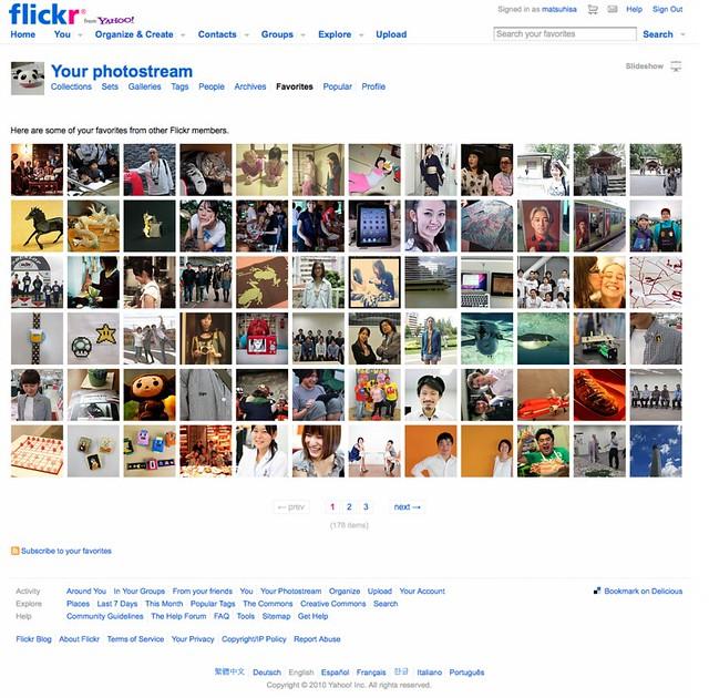 Flickr の Favorites