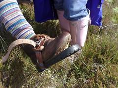Fiona's Emergency Shoe Repair Belt System (Patent Pending) (Mot) Tags: walking boot belt repair fiona forweblog tighbeg