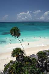 Mexico Tulum Ruins Beach 6-21-7 (Foxinsane) Tags: sea beach clouds mexico ruins riviera maya tulum tropical caribbean