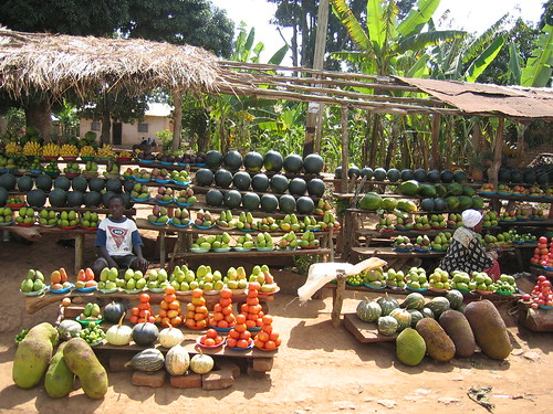 Uganda - Roadside Veggie Shop 2