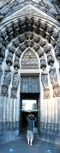 Church entrance in Cologne, Germany