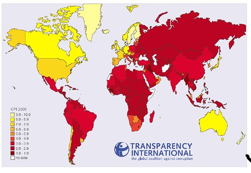Global Percieved Corruption Index