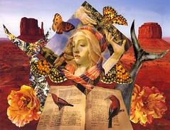 Our Lady of the Desert (nkimadams) Tags: flowers birds collage book desert religion butterflies surreal whales ourlady diamondclassphotographer flickrdiamond atquearticia