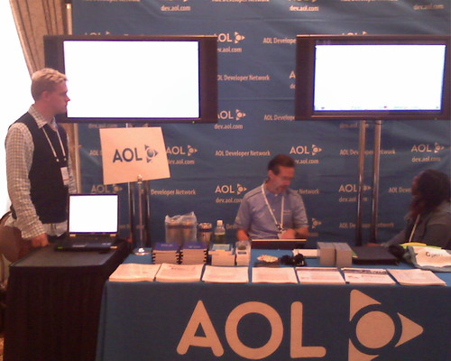 AOL booth at Techcrunch40