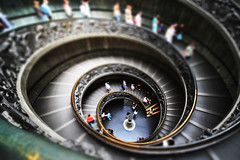 Vatican Stairs (` Toshio ') Tags: longexposure people italy blur vatican rome building art stairs spiral ramp europe catholic artistic interior religion staircase soe europeanunion spiralstaircase vaticancity tiltshift toshio themoulinrouge spiralramp anawesomeshot ultimateshot exitstairs