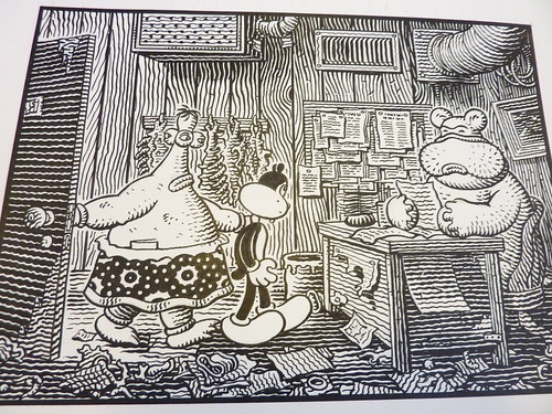 Original art for Congress of the Animals by Jim Woodring