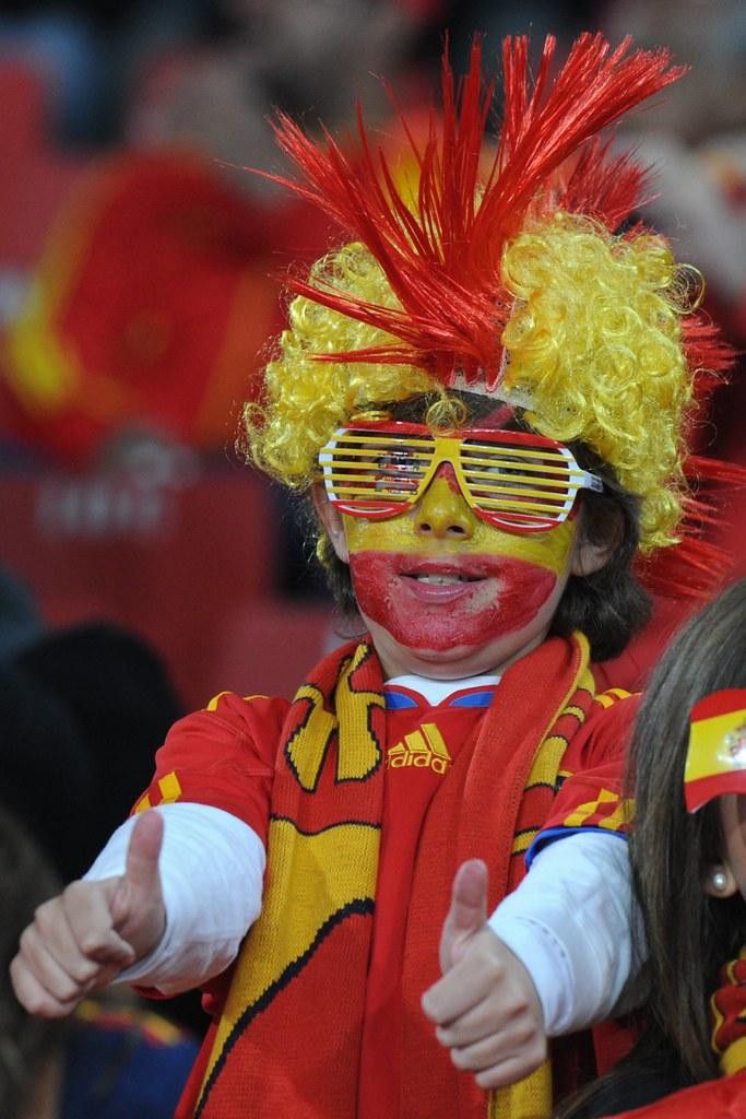 Hincha cara pintada gafas Mundial Sudáfrica España