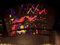 YouTube Play. A Biennial of Creative Video Guggenheim Exterior Projection (Solomon R. Guggenheim Museum) Tags: video franklloydwright guggenheim guggenheimmuseum projections youtubeplay