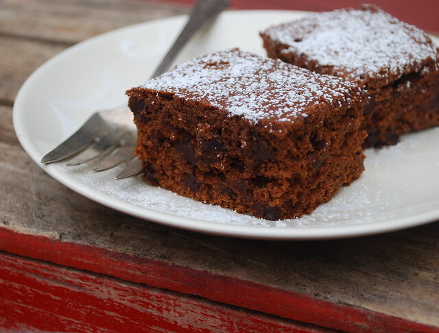 Chocolate Pumpkin Snack Cake