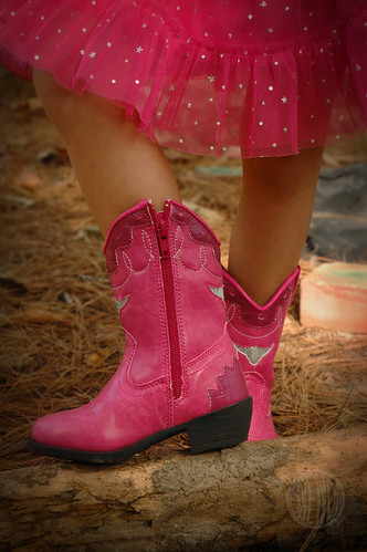pink boots!