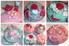 retro red fashionista (jamosie) Tags: roses polkadotdresses pearlcupcakes vintagecupcakes