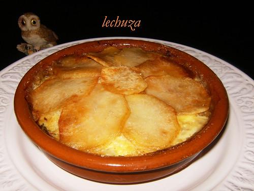Pastel de pescado y marisco-horneado cazuela