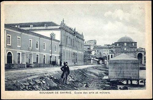 Karpostallarda yangından önce İzmir, Sanat Fakültesi
