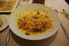 Spain: Spaguetti carbonara with Iberian pork dewlap