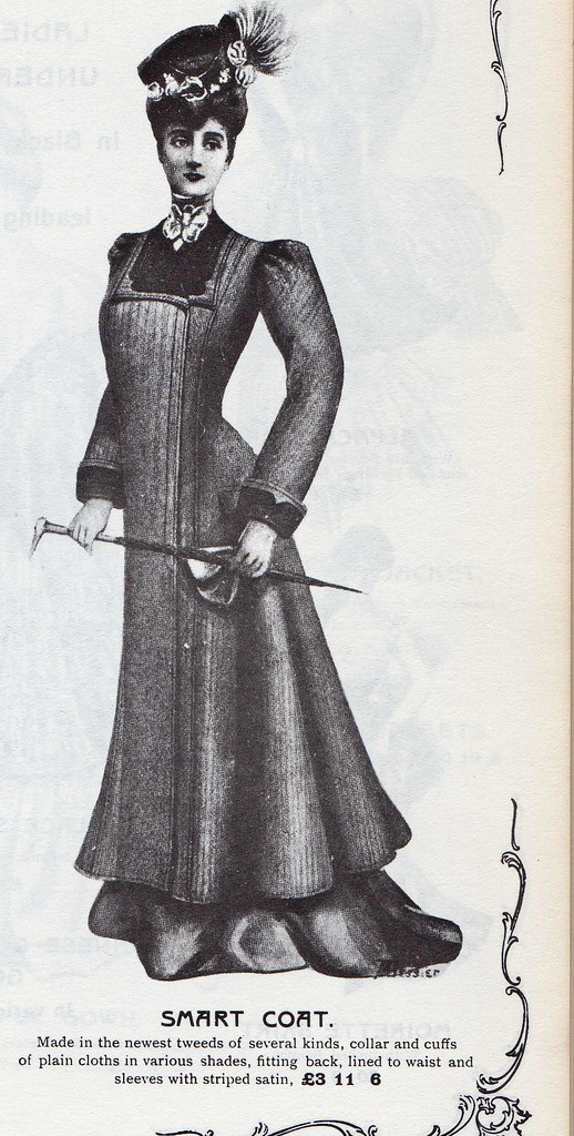 Woman's clothing from the Army and Navy Stores Catalogue, Edwardian.