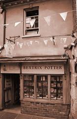 The World of Beatrix Potter: Gloucestershire. (Canis Major) Tags: shop sepia beatrixpotter literature gloucestershire gloucester lovephotography