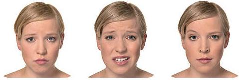 expresiones faciales mujeres