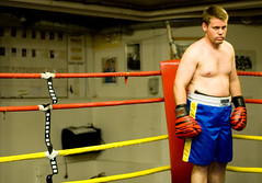 Andreas' opponent in the ring (Niklas) Tags: ring stare boxing harsh