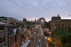 The rocks (yewenyi) Tags: road bridge twilight sydney australia nsw newsouthwales coathanger cbd therocks aus syd sydneyharbourbridge centralbusinessdistrict pc2000 oceania auspctagged thecoathanger