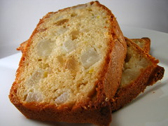 Pear, Ginger, and Vanilla Quick Bread