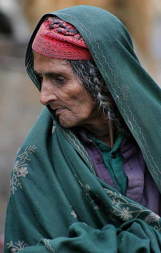 An elderly woman from Kashmir