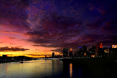 Brisbane River Sunset (Light Knight) Tags: blue sunset red river saturated photographer purple australia brisbane queensland excellent tropical awards amazingtalent pentax1645 pentaxk10d platinumphoto impressedbeauty aplusphoto favemegroup7 diamondclassphotographer