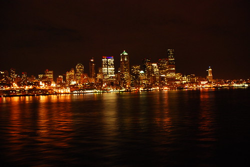 Seattle skyline as seen from the Bainbridge Island ferry.