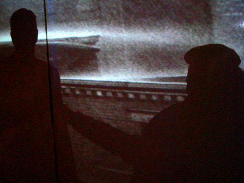 Shadows of a Goon and a Flunky