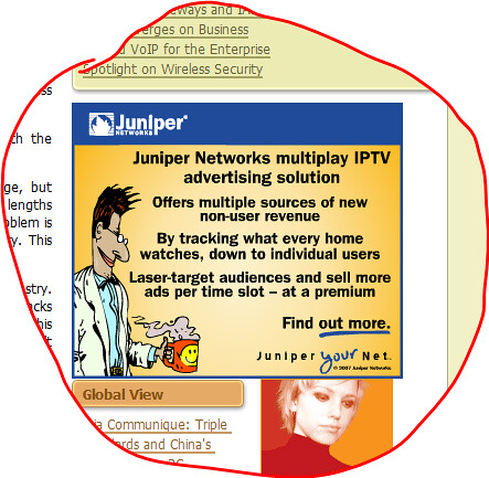Network advertising