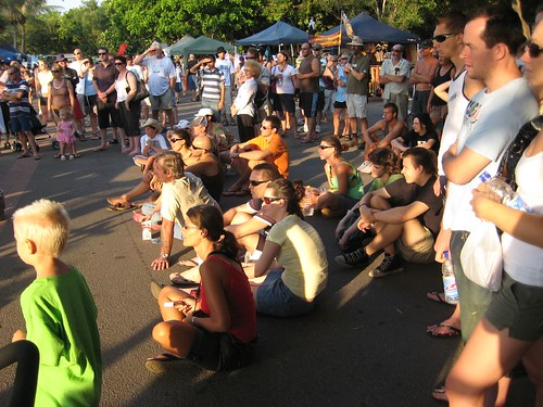 Spectators at Mindil Beach Market Darwin