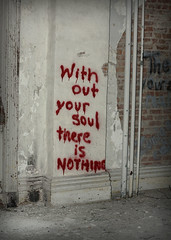 (hopefuldoubtful) Tags: red abandoned graffiti decay soul nothing derelict decayed ruination physicalculturehotel withoutyoursoulthereisnothing