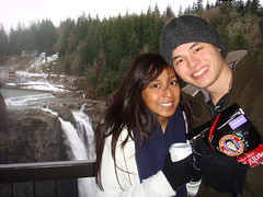 Chris and Sonya (Owlchick) Tags: snoqualmiefalls